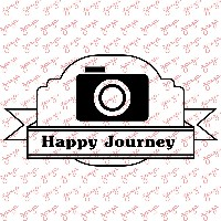 Carimbo Happy Journey 6,7x3,8 Cm Zarza